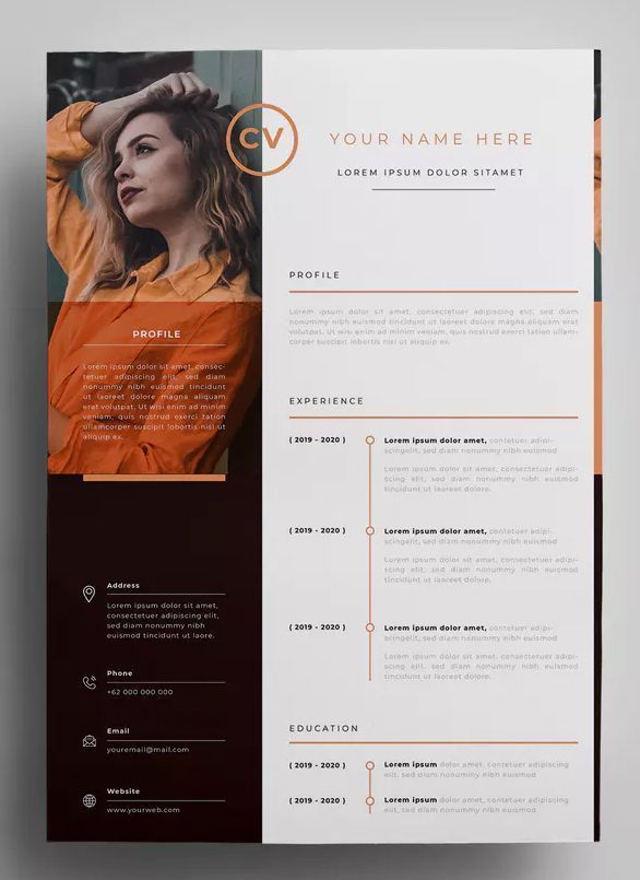 Resume Design Templates AI, EPS - Design in 300 DPI resolution - A4 paper size. ...