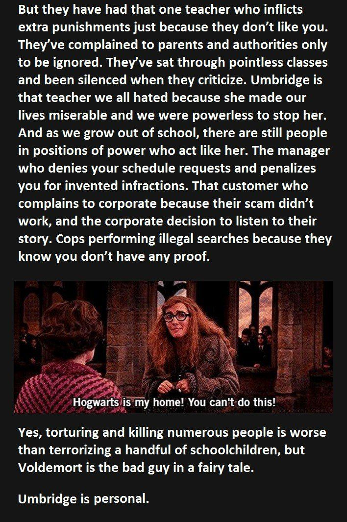 I personally hated the hell out of this woman because as stated here, I've personally had this experience at school, not as bad, but all the same.