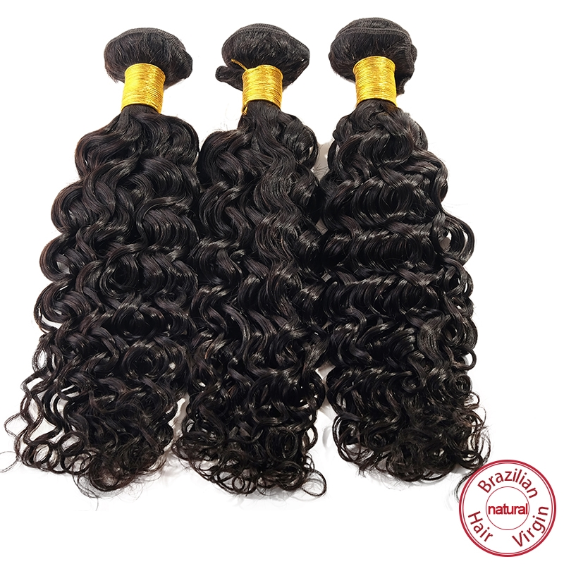39.77$  Buy here  - EVET Brazilian Curly Wave Virgin Human Hair 3pcs Natural Black Color Brazilian Curly Hair Wefts Hair Extensions 100g/pcs