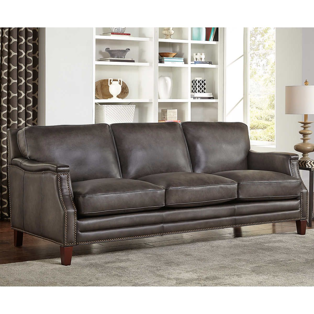 Best Edgewood Leather Sofa With Images Top Grain Leather 400 x 300