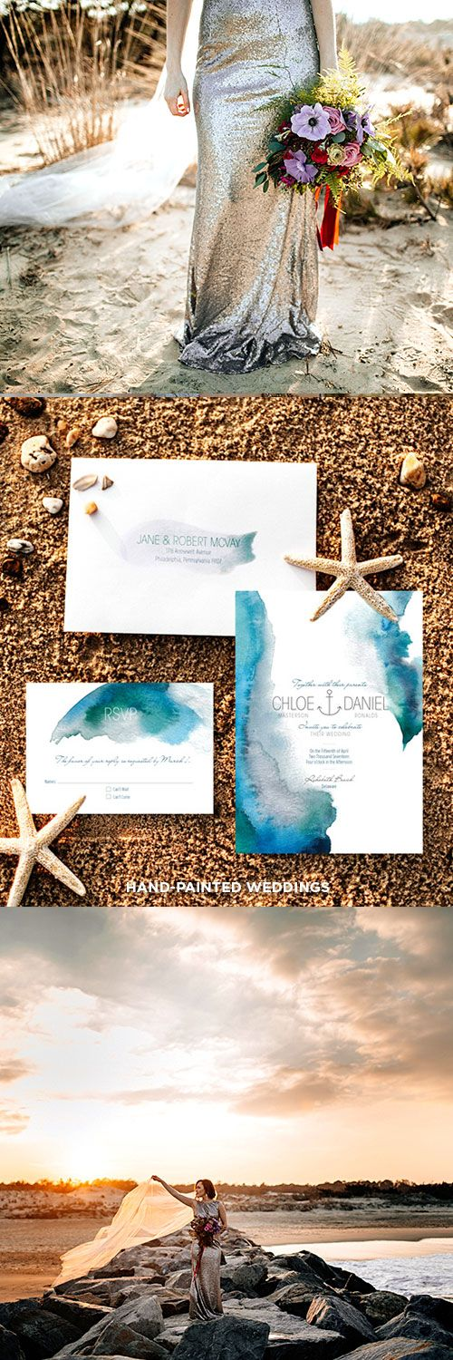Modern beach wedding invitation.So beautiful for bold beach wedding ...