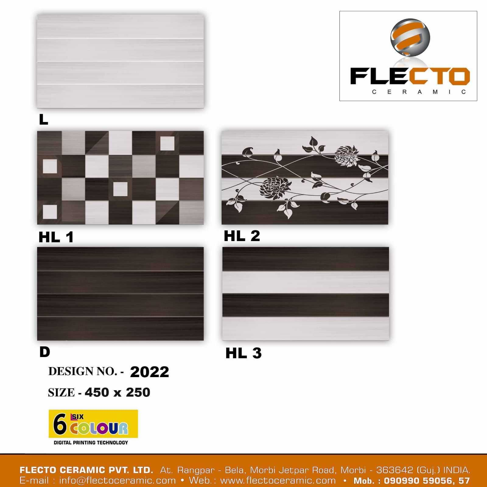 Flecto Ceramic Pvt, Ltds 10X18 Glossy Series Backsplash Tile