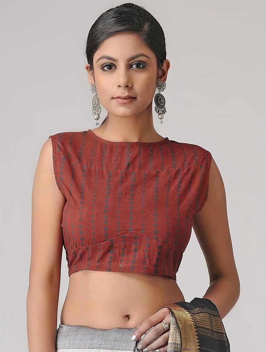 6a1f44e14e516d Buy Madder Ajrakh Cotton Blouse by Jaypore SALE shop child products Online  at Jaypore.com