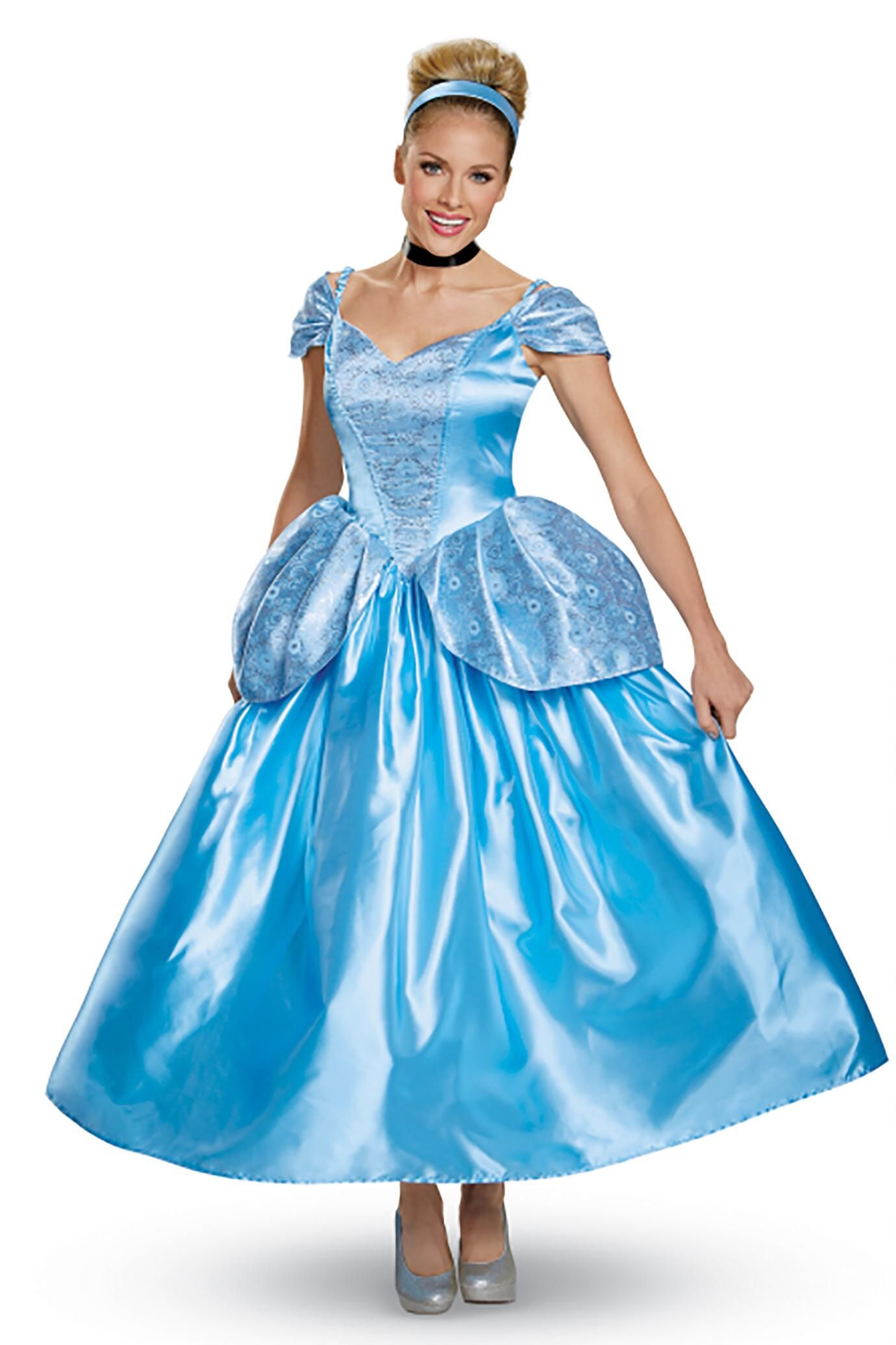 Cinderella Dress Adult Princess Women Cosplay Costume Halloween Light Color 2018