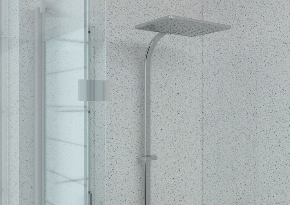 Aquabord 2 Wall Shower Panel Kit - White Sparkle | Aquabord PVC T&G ...
