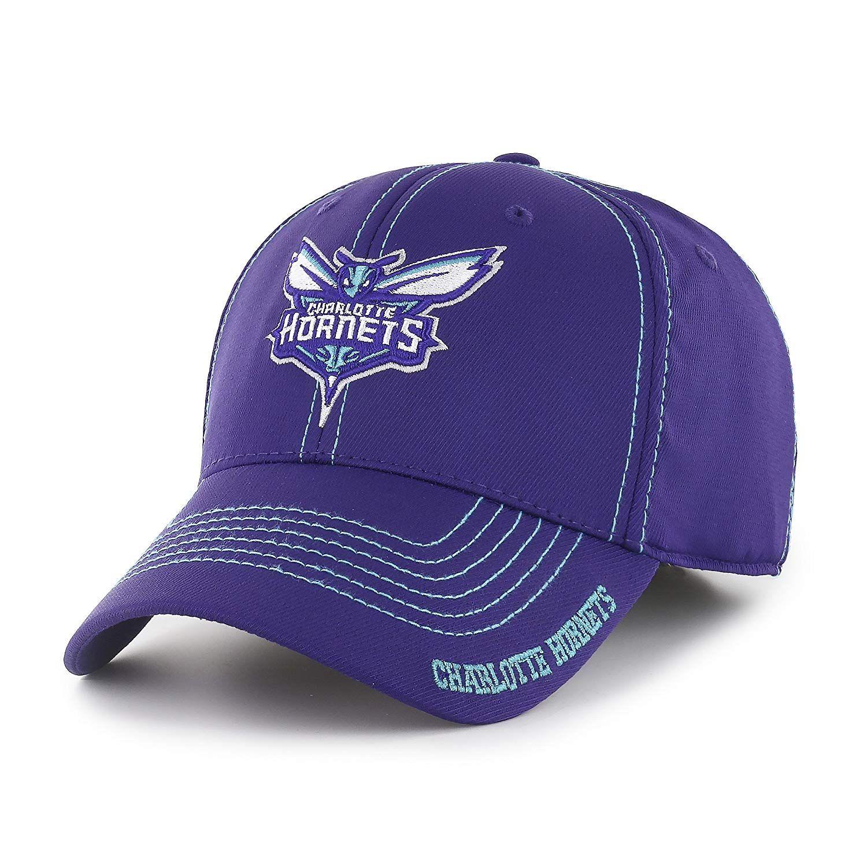 9d3a4e07a0e OTS NBA Charlotte Hornets Adult Start Line Center Stretch Fit Hat ...