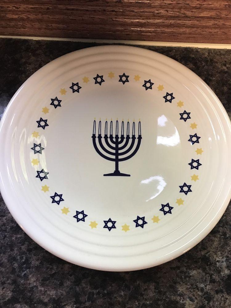 Genuine Fiestaware Hanukkah Plate white & Genuine Fiestaware Hanukkah Plate white | Hanukkah Homer laughlin ...