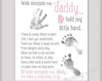 Walk with Me Daddy 8x10 Art Print Personalize with by buhbay