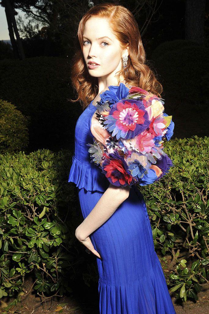 2016 Cannes Film Festival amfAR gala | Ellie Bamber in Chanel [Photo: Stephane Feugere]