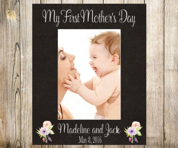 Personalized Any Message Mother's Day Frame My First by PreppyPinkies