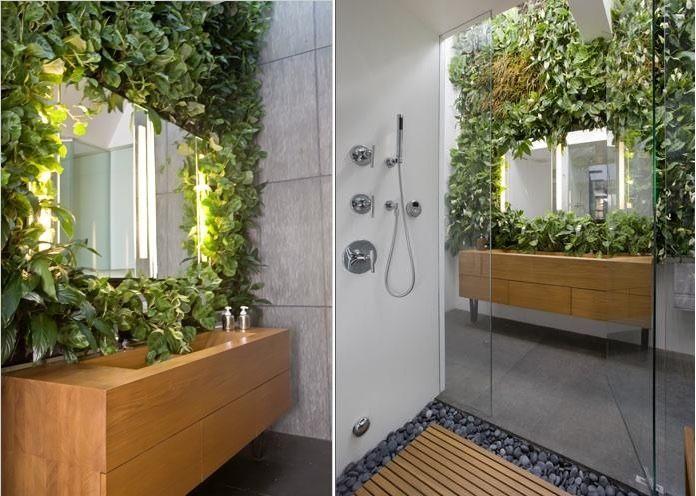 Mirror Wraped With Plants Funky MirrorsBathroom