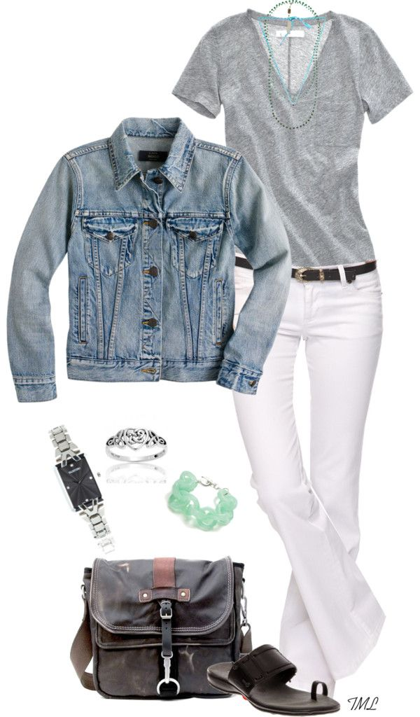"""""""Just Add Denim"""" by tmlstyle ❤ liked on Polyvore"""