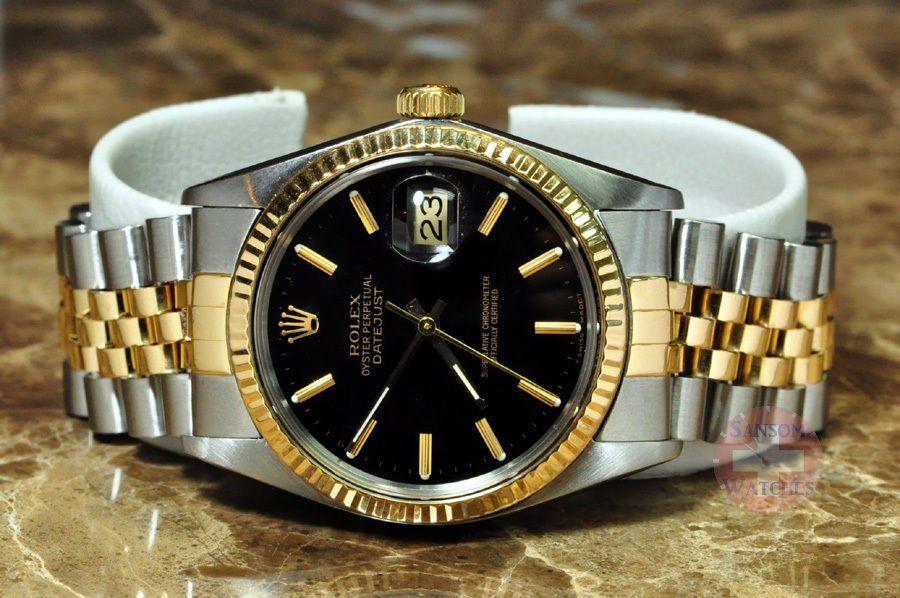 #Trending - Rolex Datejust 18k Gold / Steel Mens 36mm model 16013 with Black Dial https://t.co/bTaVhjcsmG #Ebay https://t.co/izHxXfP51n