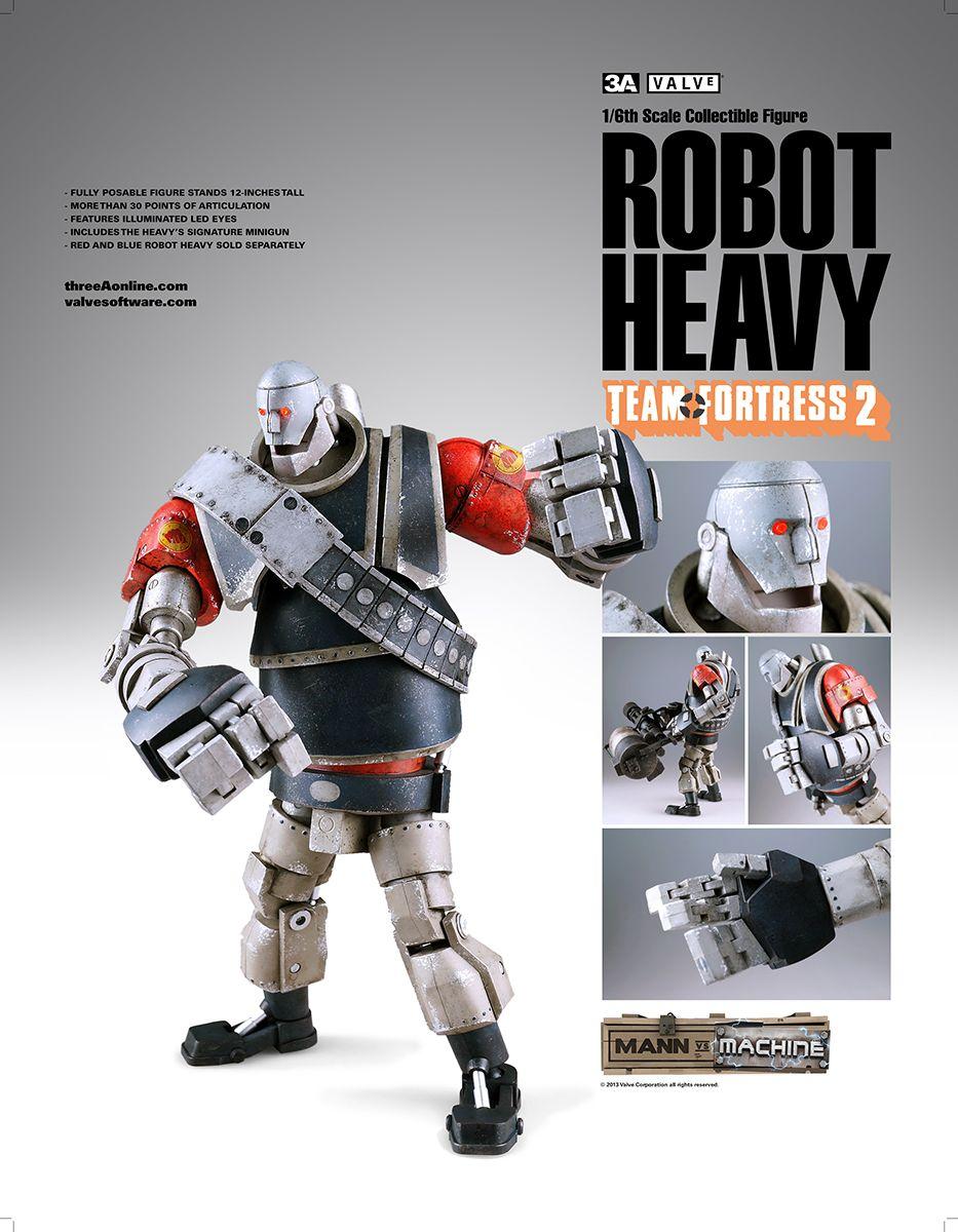 Valve Team Fortress 2 Mann Vs Machine Robot Heavy Toy