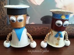 Resultado de imagen de manualidades capsulas de café