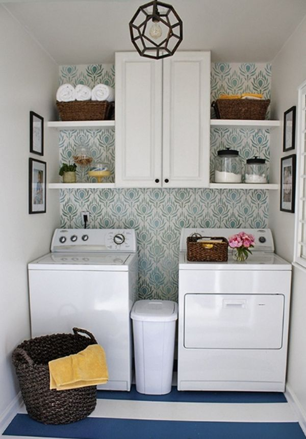 20 Small Laundry Room Storage Solutions | Home Design And Interior