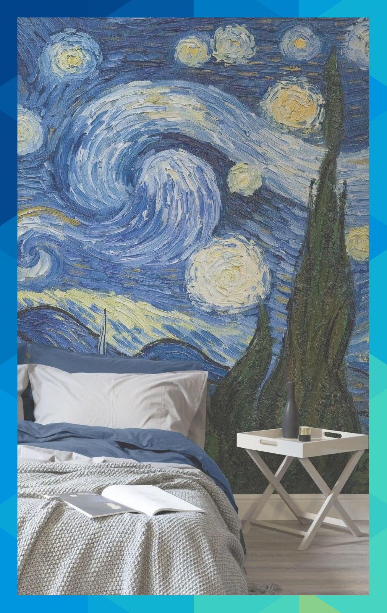 Obras De Arte Clásicas Convertidas En Papel Pintado Para Los Hogares Más Modernos Tromporal385 Starry Night Wallpaper Van Gogh Wallpaper Starry Night Van Gogh