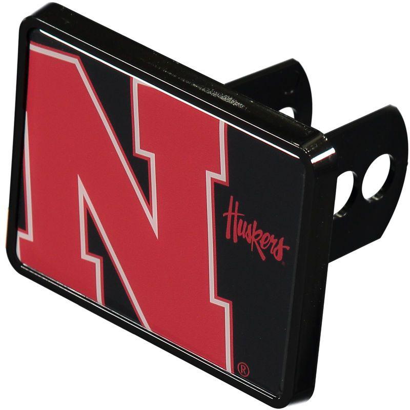 "Nebraska Cornhuskers Mega 1.25"" x 2"" Universal Plastic Hitch Cover"
