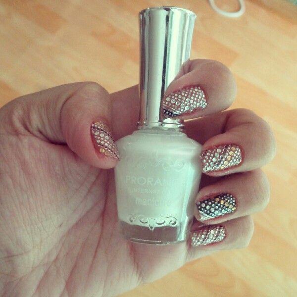 Silver Gold, Dot. #nailart #nails