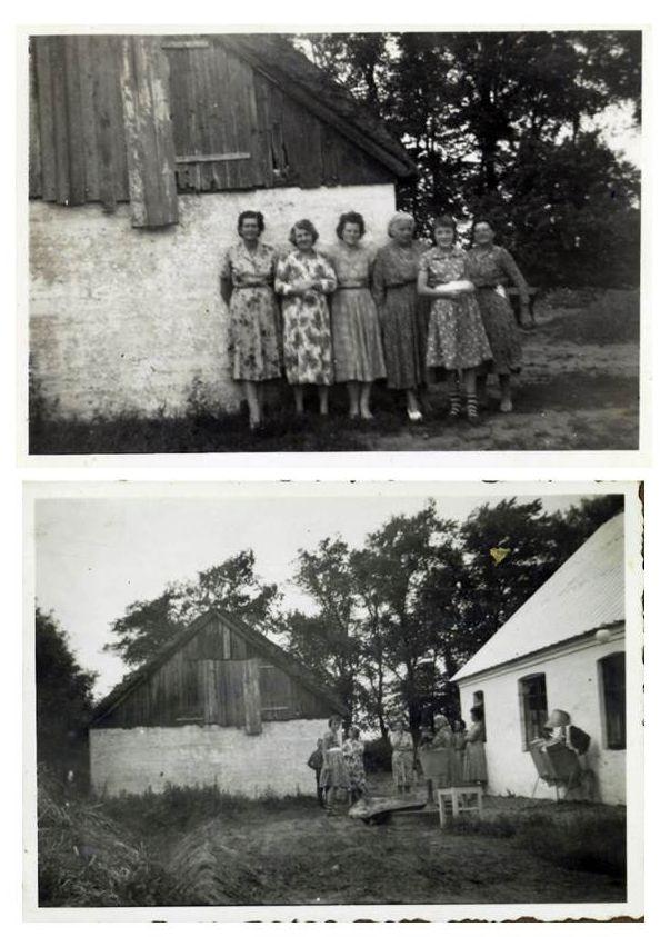 I dag er det 106 år siden min Mor blev født. Fejring af hendes fødselsdag her ca 1960 er typisk for, hvordan damerne i nabolaget fejrede fødselsdag. Til formiddagskaffe ankom damerne - de er her stillet op til fotografering - sikkert Maren der var den eneste der havde et apparat. Det var kutyme, at man kom med et buket blomster fra haven. Mor serverede sikkert allehånde slags hjemmebagt kage + diverse småkager, måske var der også æblekage. Naturligvis masser af kaffe.