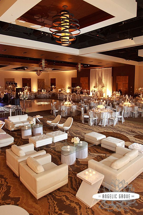 Receptions With Lounge Furniture Wedding Reception Area