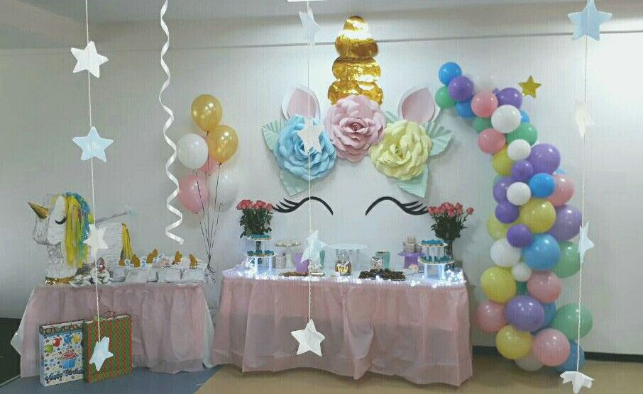 Unicorn Party Unicornio Fiesta Decoracion Globos