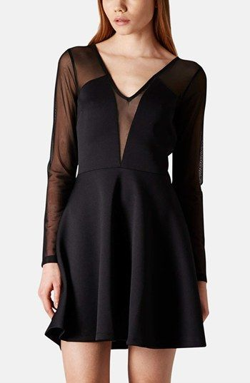 Love those different dresses.  Topshop Mesh Bodice Skater Dress