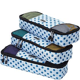 662364b4f18 eBags Slim Packing Cubes - 3pc Set - Blue Polka Dot - via eBags.com!