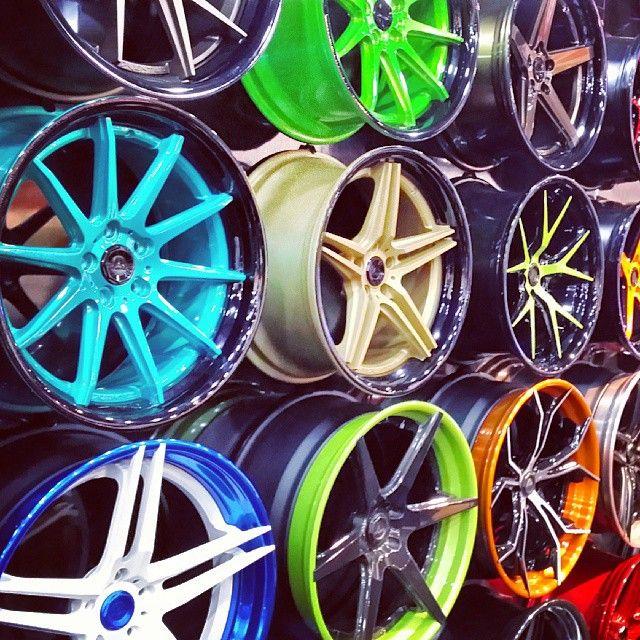 asanti adventus sema 2013 wheels booth so many colors split