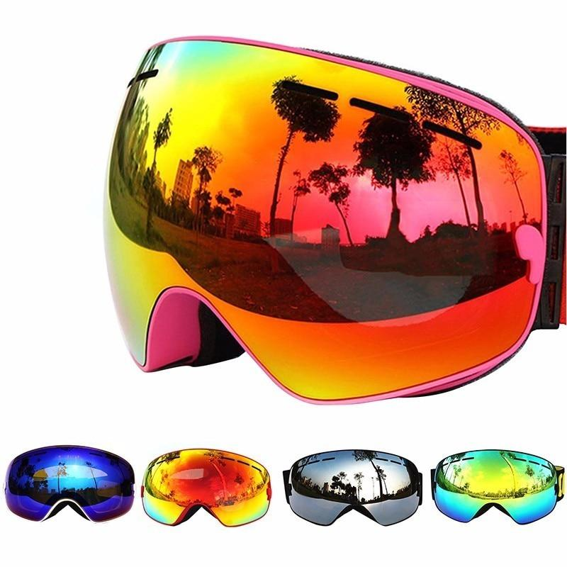 92ff41a80f1f COPOZZ Ski Goggles Double Layers UV400 Anti-fog Big Ski Mask Glasses Skiing  Men Women Professional Snow Eyewear GOG-201 Lens