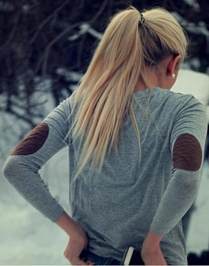 Elbow patches - so cute. #fall #fashion