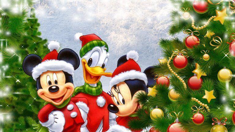 Cartoons Disney Christmas Tree Backgrounds Christmas Wallpaper Hd Disney Christmas Minnie Ornaments