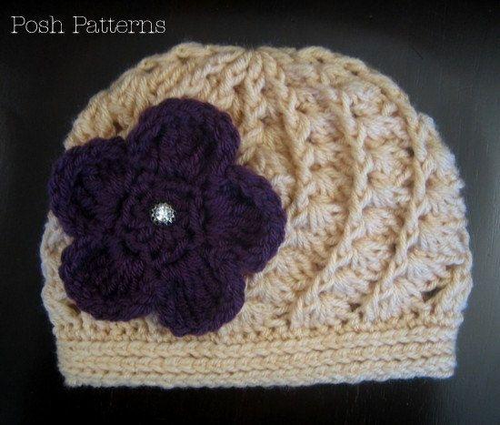 07ab546b649 Crochet PATTERN - Crochet Hat Pattern Spiral Shell Beanie - Includes ...