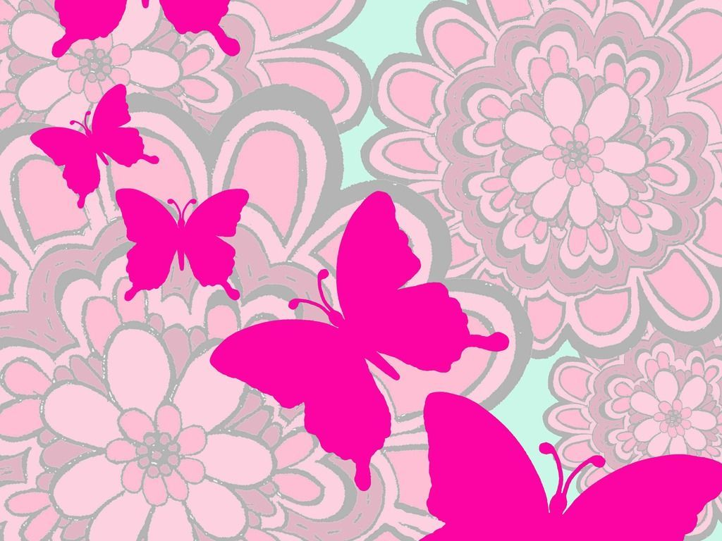 Pink Butterfly Wallpaper Widescreen Graphics Cute Butterfly
