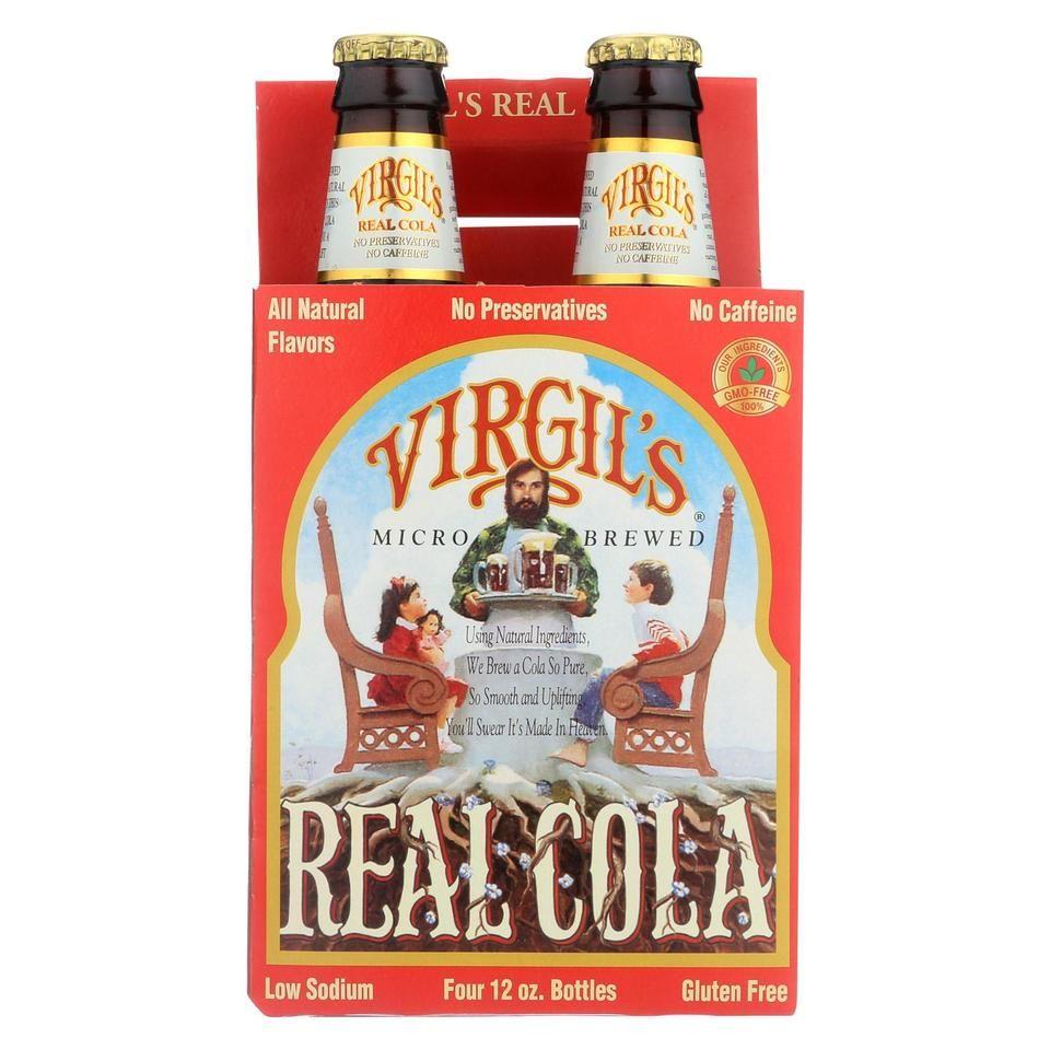 Virgil S Rootbeer Natural Soda Real Cola Case Of 6 12 Fl Oz Root Beer Cola Recipe Grocery Foods