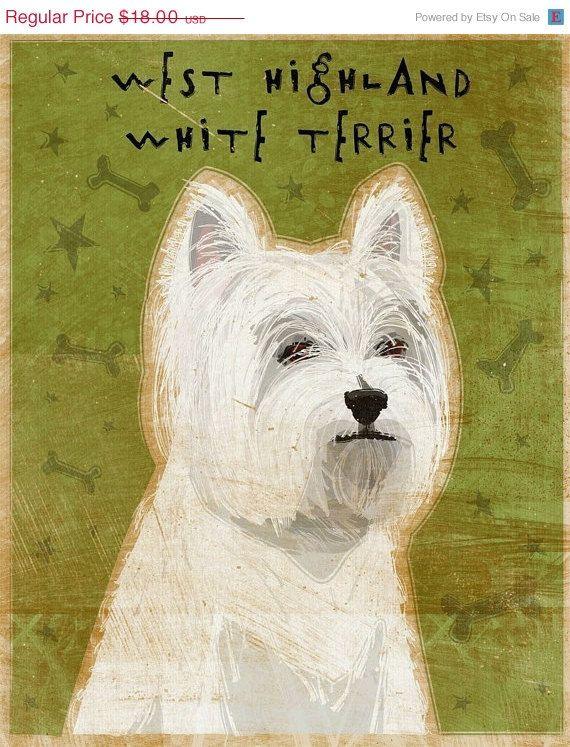 Westie Art West Highland Terrier White Terrier Highlands Terrier