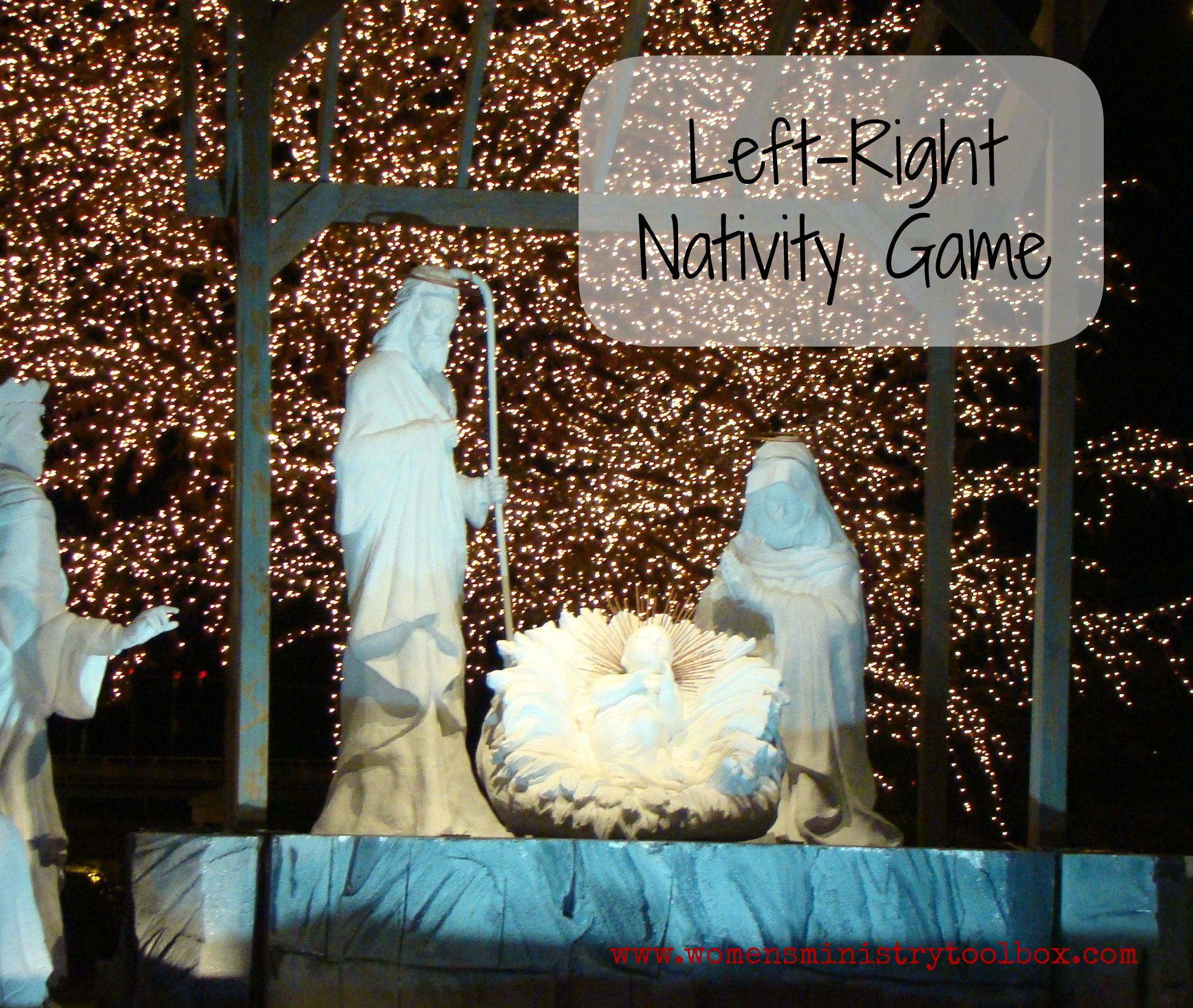 Left Right Nativity Game   Christmas gift exchange games ...