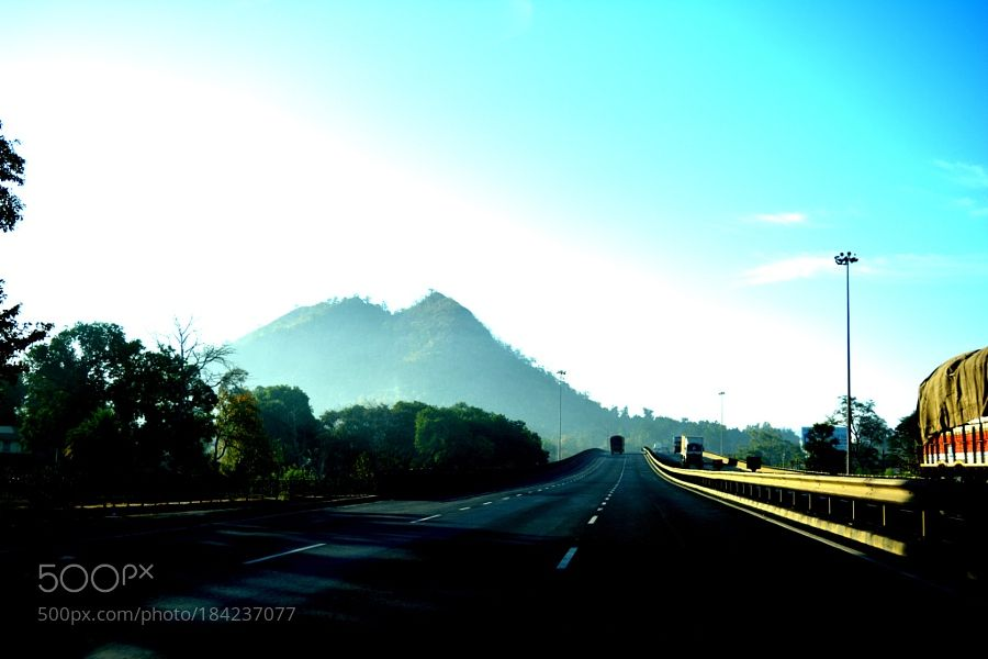 Driving nowhere by rahoolpandit with morningtraveljourneyroad to nowhereIndiaHighway
