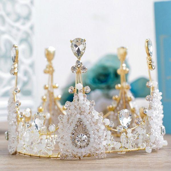 Women's Manmade Full Crown Tiara Bridal Wedding Hair Accessory
