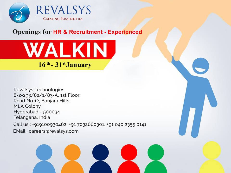 Revalsys Technologies looking for an HR & Recruitment
