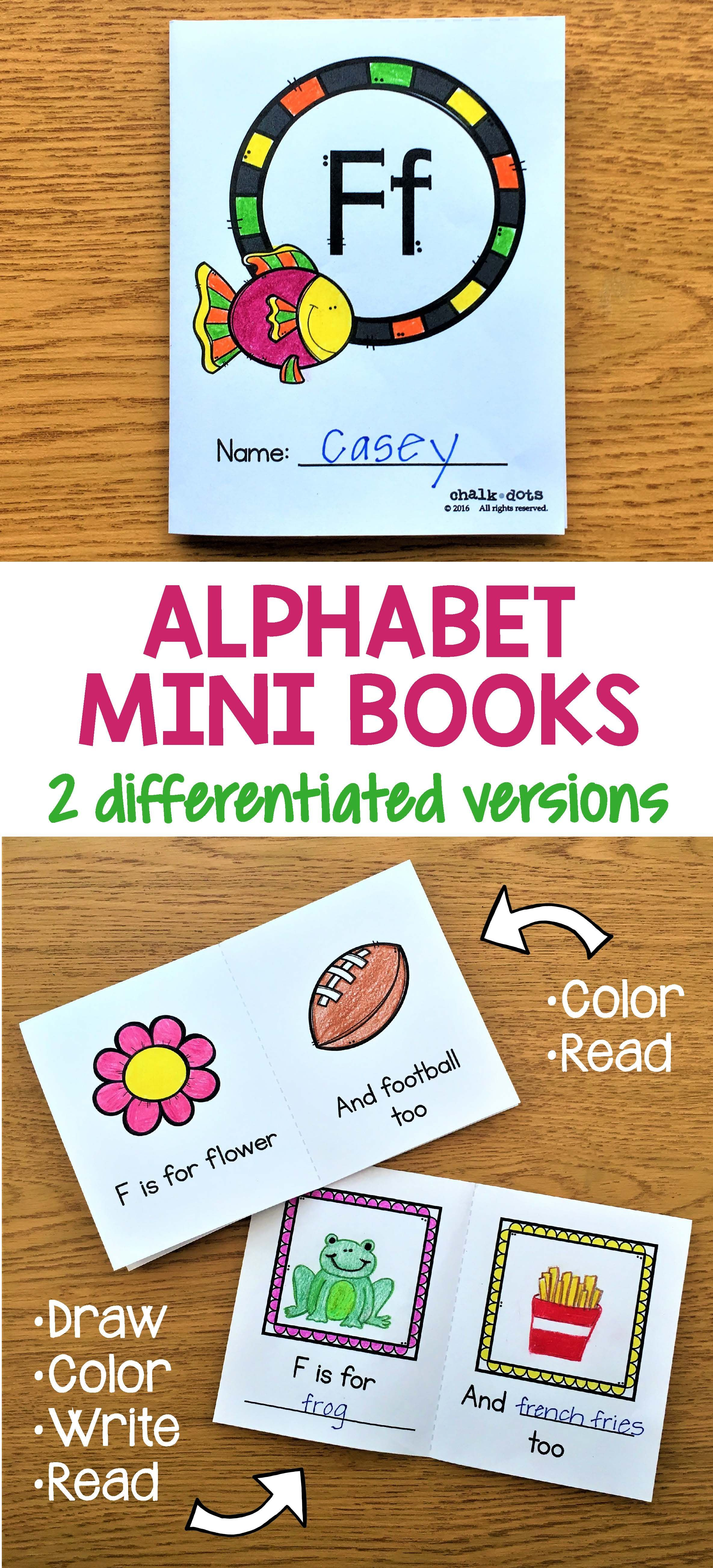 Alphabet Mini Books Alphabet Mini Book Mini Books Teaching The Alphabet [ 5214 x 2370 Pixel ]
