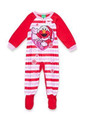 c14394672d Sesame Street Elmo Sleeper Pajamas Toddler Girls - Red - 3T ...
