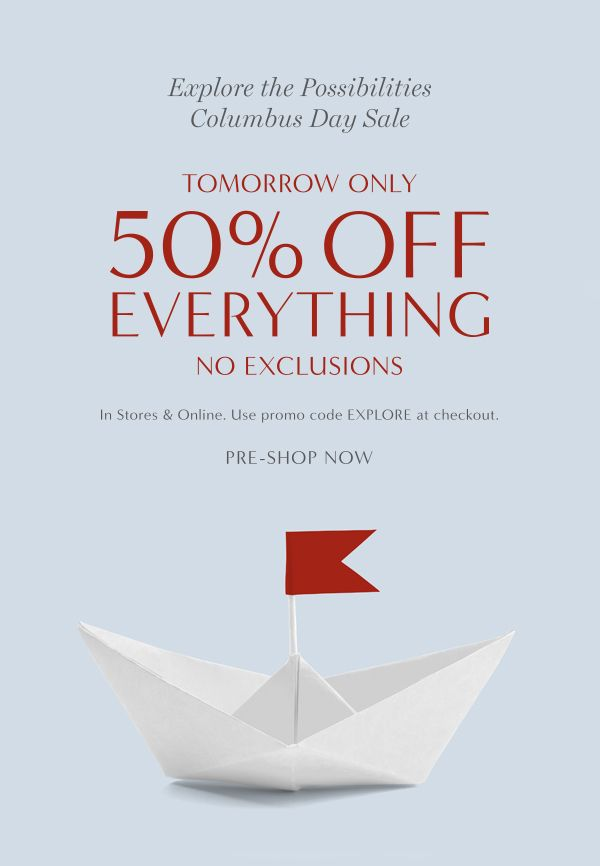 The Limited Columbus Day Sale Event Marketing Email Layout