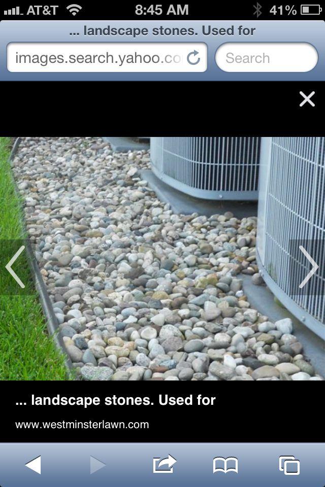 Rocks Around Generator And Air Conditioner Gardening