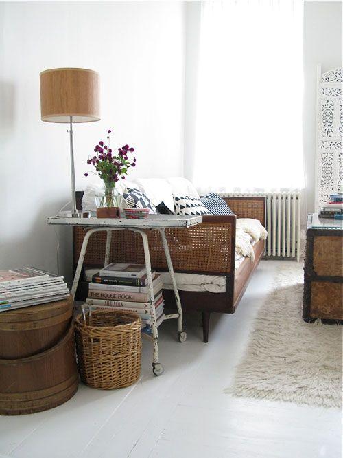 #living #room #home #interior #decorating #rattan #natural #wood #sofa #lamp