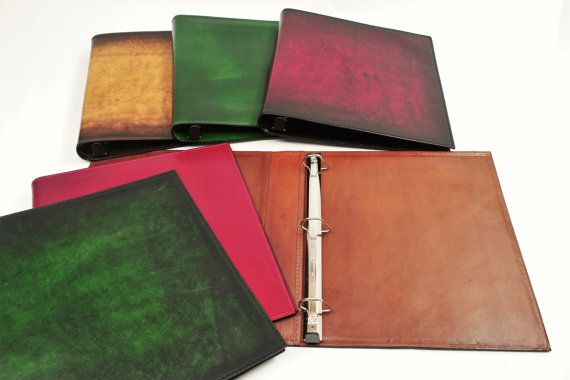 Leather 3 Ring Binder Notebook 1 Inch Leather Binder Leather 3 Ring Binder Handmade Notebook
