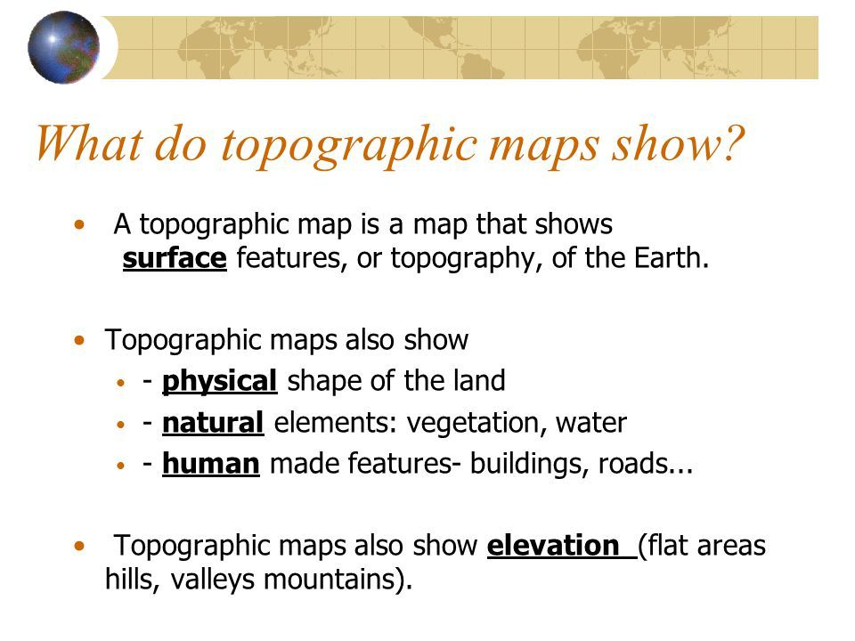 Image result for what a topographic map shows | important Diagrams