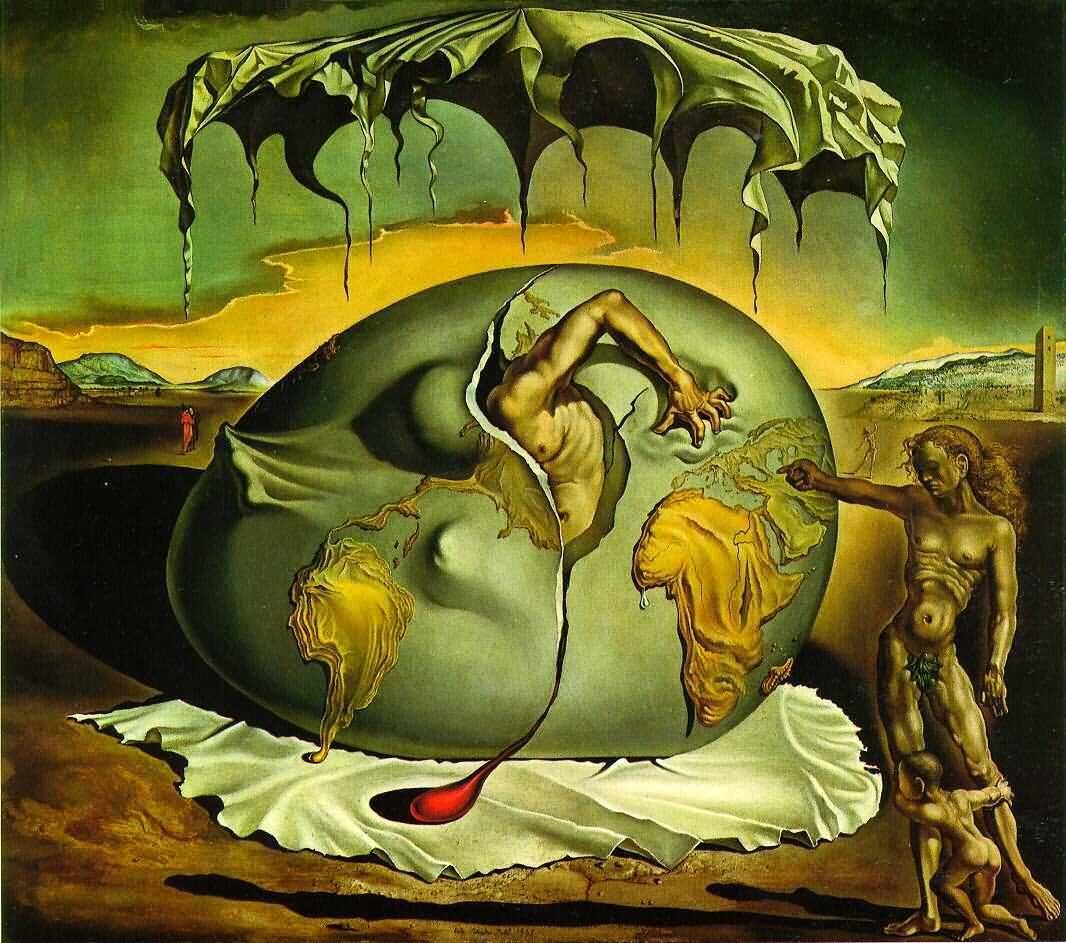 Niño Geopolítico Observando El Nacimiento del Hombre Nuevo. Salvador Dali, 1937