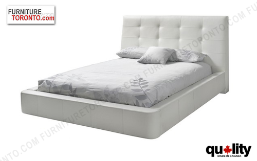 Modern Queen Size Leather Bed Made In Canada From Italian Leather. A Range  Of High
