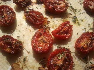 ofengetrocknete Tomaten in Olivenöl